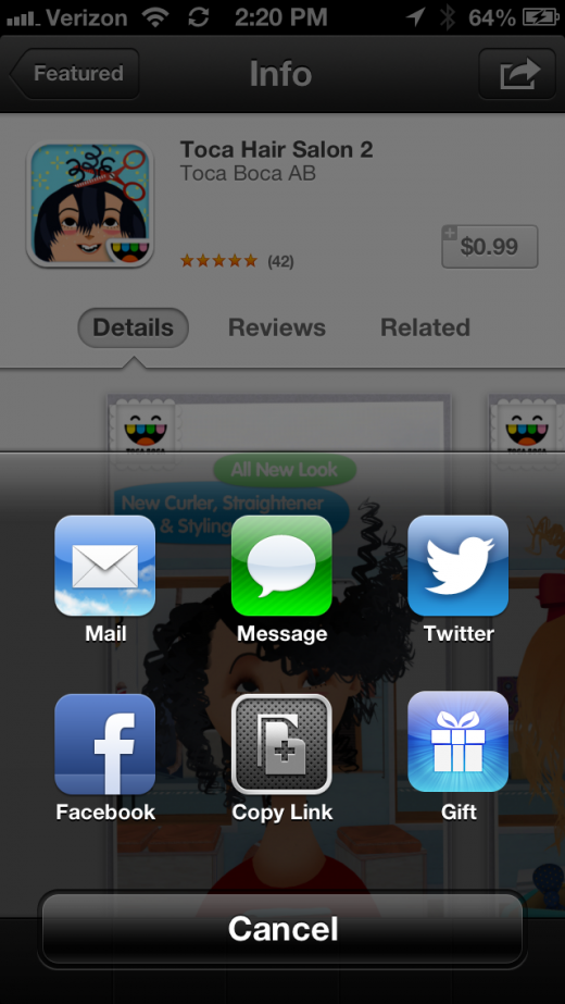 IMG 0668 520x923 Apple returns ability to gift apps from iOS 6 App Store, but makes it a bit obscure