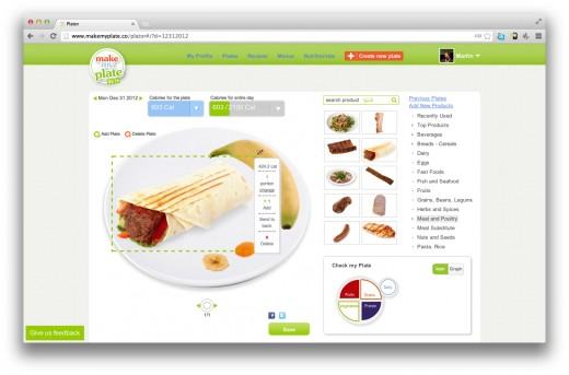 Make My Plate 520x343 Make My Plate: The online visual nutrition guide that lets you drag and drop your next healthy meal