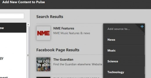 Screenshot 11 520x269 Pulses news aggregation app now has a UK catalogue, reeling in The Guardian, NME and more