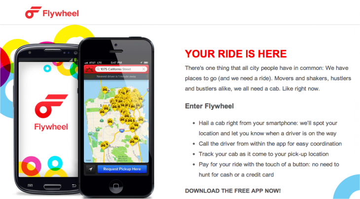 Snap 2012 12 13 at 00.13.17 730x404 Cabulous is now Flywheel, unveils mobile app with fresh interface, ride experience platform, and more