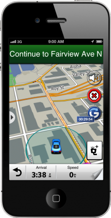StreetPilot Timer On 220x430 Garmin integrates Foursquare and Glympse with mobile apps for non creepy location sharing on the go