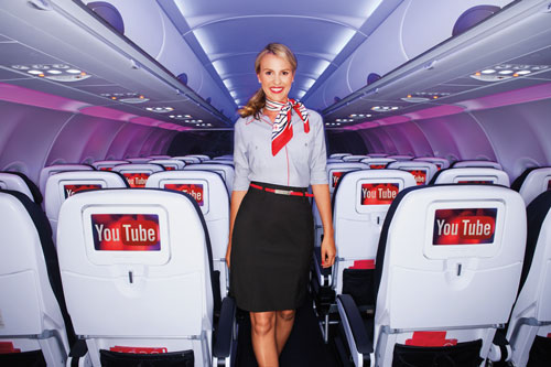 VirYou YouTube content heads into the clouds on Virgin America flights from December 15