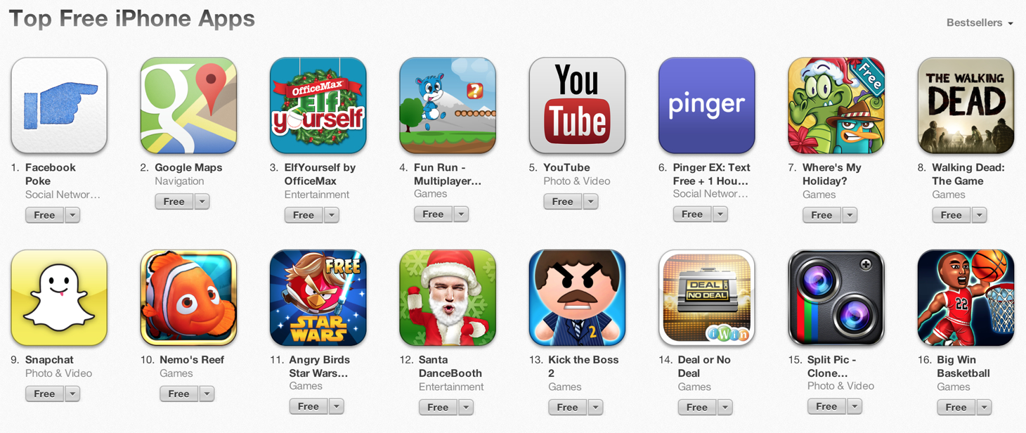 Facebook Poke Becomes The App Store's Most Popular Free App