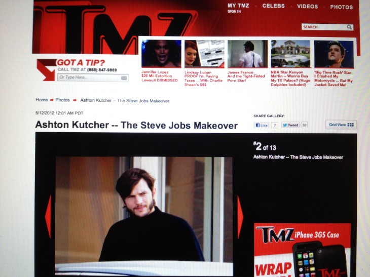 ashton kutcher as steve jobs on tmz 730x547 2012s biggest tech news in pictures