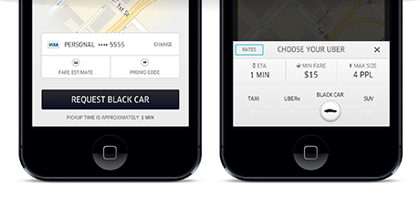 en content Uber confirms a redesigned iOS app with fare estimates, clearer car types and Foursquare powered database