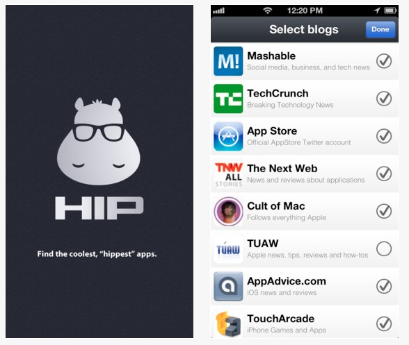 hip ios1 Kinetik relaunches as HIP, hopes to help you find the hippest Android and iOS apps