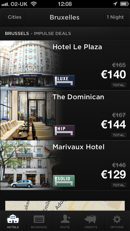 hotelbruss HotelTonight debuts same day hotel booking service and new mobile apps in mainland Europe, Mexico