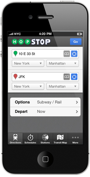 HopStop hits 100 major metropolitan markets in the US, approx. 80% of Google Transits coverage