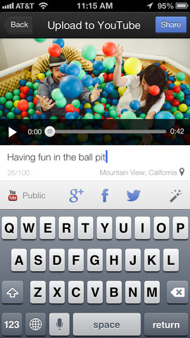 youtube capture app shoots and shares on ios youtube capture up to date with 1080p support 270x480