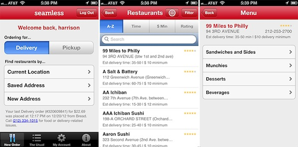 Seamless redesigns its iPhone app with a delectable new look, photos, faster checkouts and more