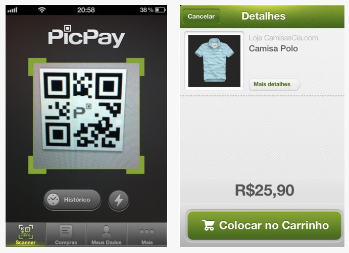 picpay screenshots Mobile payment startup PicPay lets Brazilians make purchases via a QR code