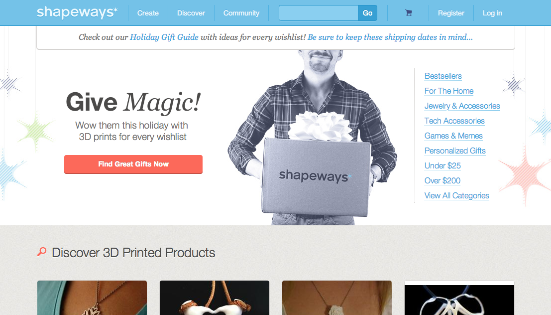 shapeways 5 unconventional places to shop for your holiday gifts