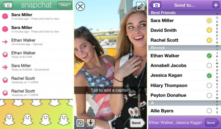snapchat trio 730x427 Facebook to reportedly launch Snapchat like app in the coming weeks