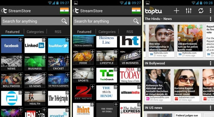 taptu indiaset 730x400 Social reader Taptu launches local apps in India and China, targets 20m downloads in 6 months