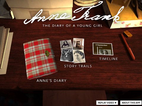 AF1 Anne Frank for iPad and Nook reimagines The Diary of a Young Girl for the digital age