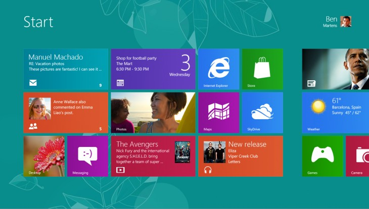 Application 402 730x414 A look at the design process behind Windows 8s Start screen and Lock screen wallpaper