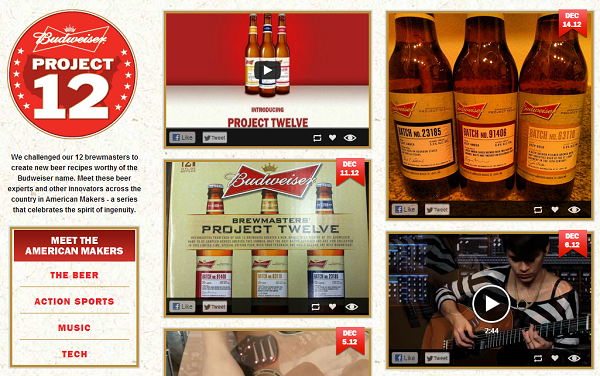 Bud 12 big brands & celebrities that crowdsourced in 2012