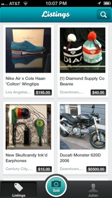 ListingsScreenshot2 220x390 SellSimple unveils iOS app where users can sell on eBay, Etsy, Craigslist, others at the same time