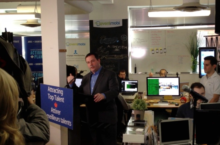 Minister Jason Kenney announce Canadas Startup Visa Program at EventMobi 730x481 Canada announces new startup visa program to attract entrepreneurs starting on April 1