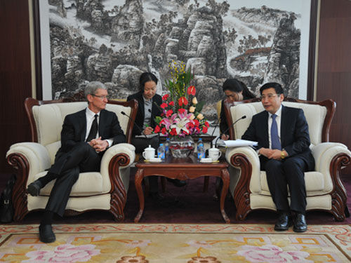 Apple CEO Tim Cook meets high level officials, US ambassador on visit to China