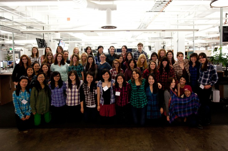 Women in Plaid 7 730x486 Behind the scenes at Squares Code Camp: What 17 women are learning about the startup world