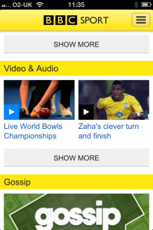 a12 220x330 BBC Sport iOS app updated with live and on demand video, as it returns to mobile Web too