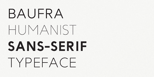 baufra 38 Of the most beautiful typeface designs released this winter