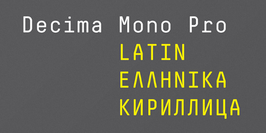 decima mono pro 38 Of the most beautiful typeface designs released this winter