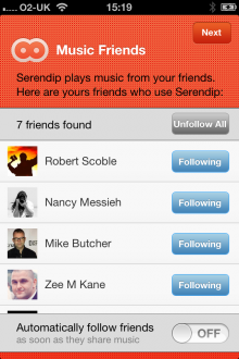 f2 220x330 Serendip launches its social listening app on iOS to help you find your music soulmates