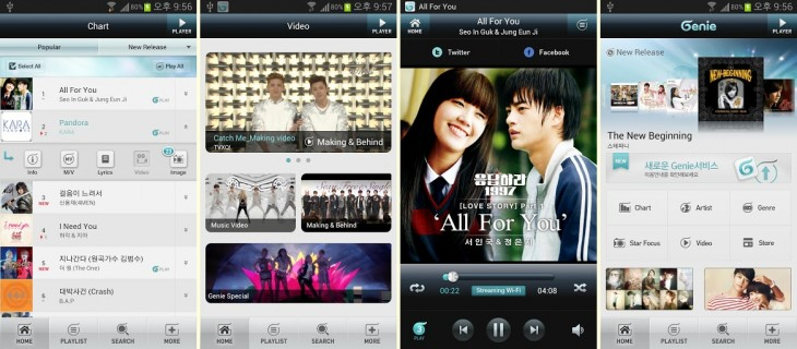 k pop genie 730x320 KTs Genie K Pop app goes global, bringing the Korean wave to an Android device near you