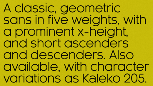 kaleko 38 Of the most beautiful typeface designs released this winter