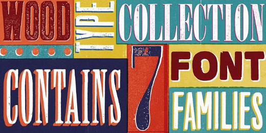 wood type collection 38 Of the most beautiful typeface designs released this winter