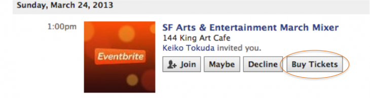 Facebook Buy Tickets Button 730x193 Eventbrite taps into Facebooks new Buy Tickets feature