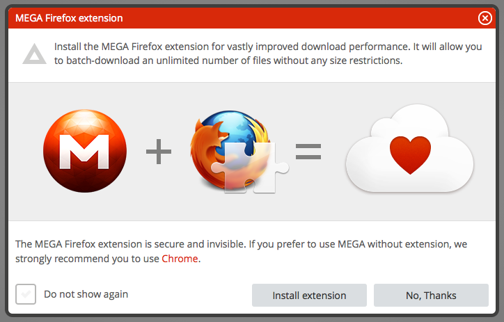 Screen Shot 2013 02 09 at 15.42.23 Kim Dotcoms MEGA cloud storage service gets a Firefox extension