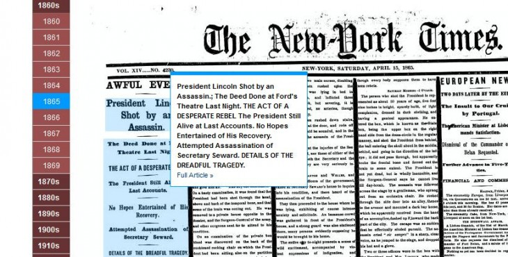 Screenshot 13 730x370 The New York Times taps its TimesMachine Web archives to offer a new ad program, launching with NatGeo