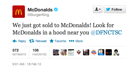 Snap 2013 02 18 at 09.32.20 Twitter suspends Burger Kings verified account after hack that claimed chain sold to McDonalds