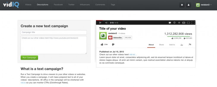 VidIQ 730x294 VidIQ lets you make more of YouTube with analytics and SEO. Now open to all, it takes $800k+ funding