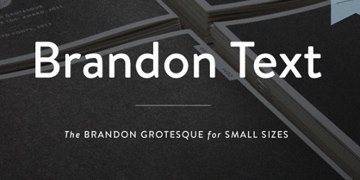 brandon text 40 Of the most beautiful typeface designs released this January