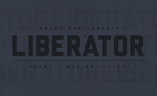 liberator 40 Of the most beautiful typeface designs released this January