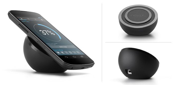 Googles long awaited Nexus 4 Wireless Charger arrives for $59.99, looks like half of an 8 ball