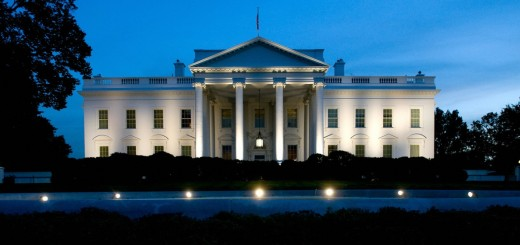 The White House is seen at dusk as illum