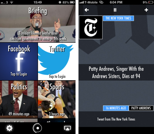 winstonscreens2 Meet Winston, an iOS app that aggregates, curates and then reads you the news