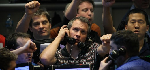 Traders On The Floor Of Chicago Board Of Options Exchange React To Fed Announcement