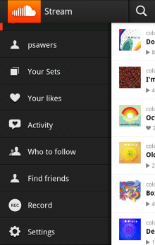 An 220x348 SoundCloud brings sets to version 2.5 of its Android and iPhone app