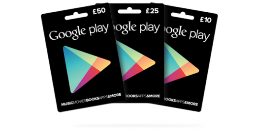 Google Play Gift Cards 520x269 Google Play gift cards launch in the UK, available for £10, £25 and £50 in Tesco and Morrisons