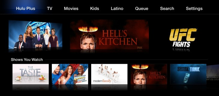 HuluBlog AppleTV ShowsYouWatch 730x319 Hulu redesigns app for Apple TV with new content categories, Shows You Watch tray, and easier playback