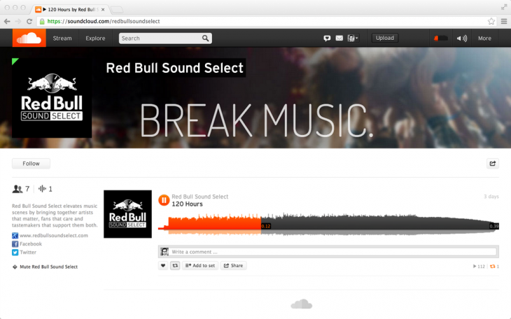 SoundCloud Red bull V1  730x456 SoundCloud launches simplified, cheaper Pro plans and embraces brands with Pro Partner accounts