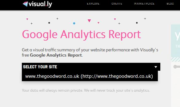 a5 Visual.lys new Google Analytics tool sends you weekly Web metric reports as infographics