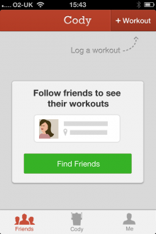 b14 220x330 Cody for iPhone is a cross activity exercise journal that lets you record and share workouts with friends