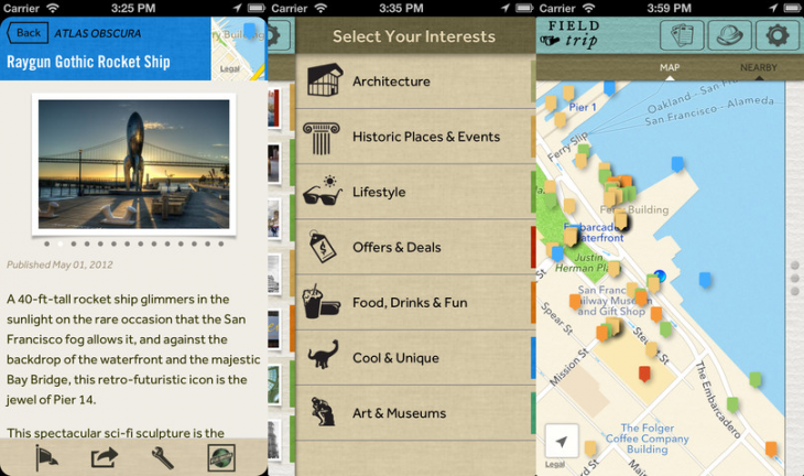 field trip ios 730x432 Googles location aware pocket tour guide app Field Trip comes to iOS